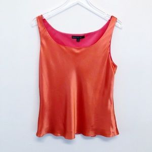 Lafayette 148 New York | Coral Silk Shell Blouse